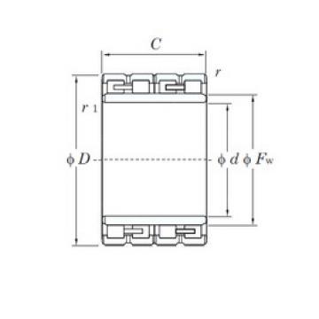 240 mm x 330 mm x 220 mm  KOYO 312943/1YD cylindrical roller bearings