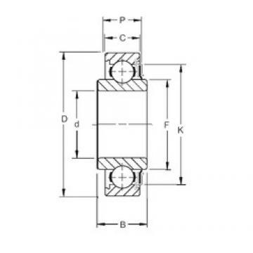 30 mm x 62 mm x 24,00 mm  Timken 206KR7 deep groove ball bearings