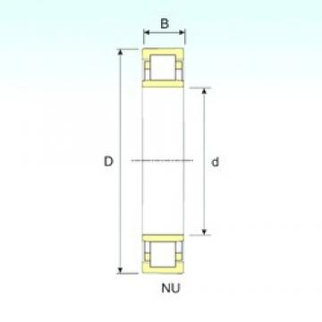 460 mm x 830 mm x 165 mm  ISB NU 1292 cylindrical roller bearings