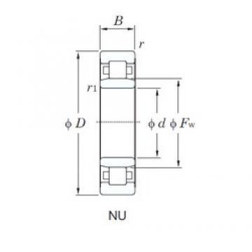 45 mm x 100 mm x 36 mm  KOYO NU2309R cylindrical roller bearings