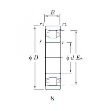 70 mm x 150 mm x 35 mm  KOYO N314 cylindrical roller bearings