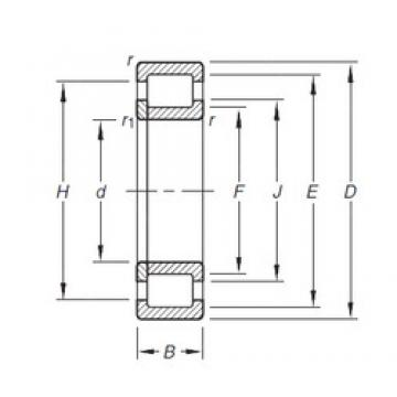 30 mm x 72 mm x 19 mm  Timken NUP306E.TVP cylindrical roller bearings