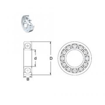 25 mm x 42 mm x 9 mm  ZEN 61905-2Z deep groove ball bearings