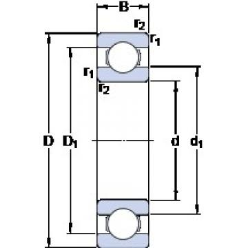 160 mm x 290 mm x 48 mm  SKF 6232 M deep groove ball bearings