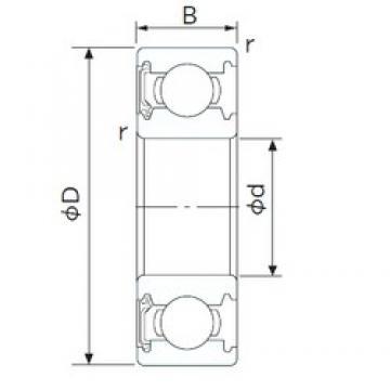 40 mm x 90 mm x 23 mm  NACHI 6308NSE deep groove ball bearings