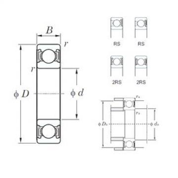 60 mm x 95 mm x 18 mm  KOYO 6012-2RS deep groove ball bearings
