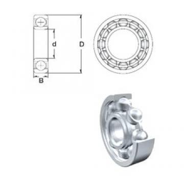 6 mm x 10 mm x 3 mm  ZEN MR106-2RS deep groove ball bearings