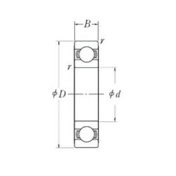 20 mm x 37 mm x 9 mm  NSK 6904L11-H-20DDU deep groove ball bearings