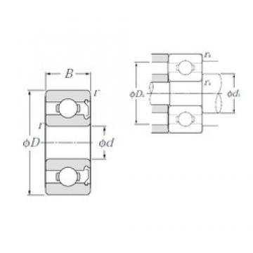 7 mm x 14 mm x 5 mm  NTN W687AZ deep groove ball bearings