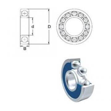 4 mm x 13 mm x 5 mm  ZEN 624-2RS deep groove ball bearings