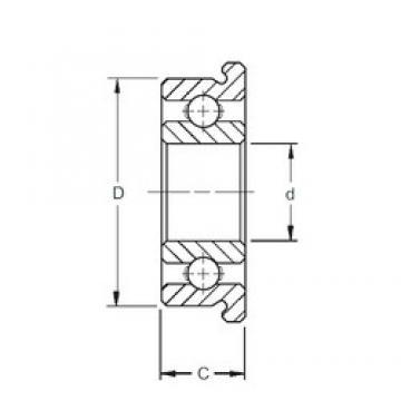 8 mm x 14 mm x 3,5 mm  ZEN MF148 deep groove ball bearings