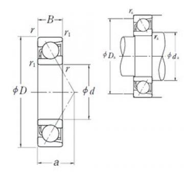 80 mm x 140 mm x 26 mm  NSK 7216 A angular contact ball bearings