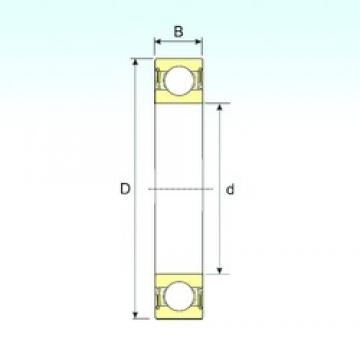 25 mm x 52 mm x 18 mm  ISB 62205-2RS deep groove ball bearings