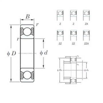 140 mm x 300 mm x 62 mm  KOYO 6328ZX deep groove ball bearings