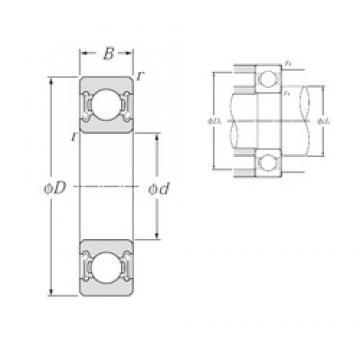 30 mm x 72 mm x 19 mm  NTN 6306LLB deep groove ball bearings