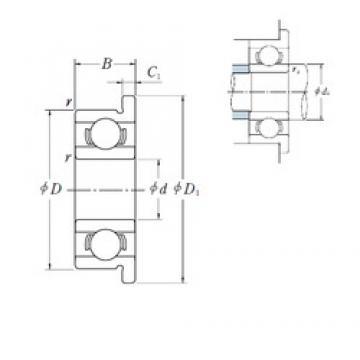 5 mm x 14 mm x 5 mm  NSK F605 deep groove ball bearings
