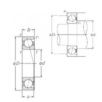 30 mm x 55 mm x 13 mm  NTN 7006C angular contact ball bearings