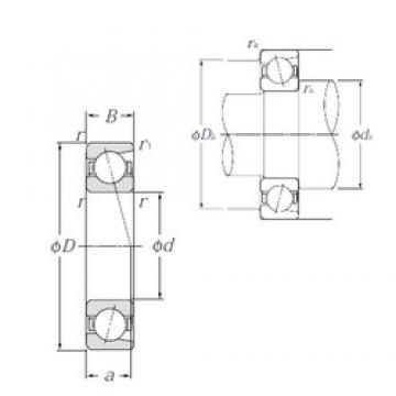 35 mm x 80 mm x 21 mm  NTN 7307 angular contact ball bearings