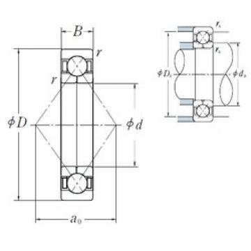 150 mm x 270 mm x 45 mm  NSK QJ 230 angular contact ball bearings