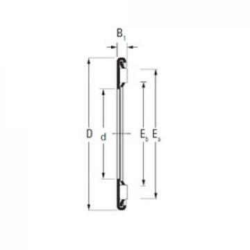 Timken AX 4,5 90 120 needle roller bearings