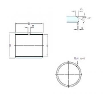 12 mm x 14 mm x 8 mm  SKF PCM 121408 E plain bearings