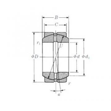 25 mm x 42 mm x 20 mm  NSK 25FSF42 plain bearings