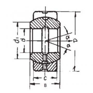 280 mm x 400 mm x 155 mm  FBJ GE280ES plain bearings