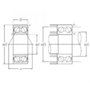 60 mm x 110 mm x 36,5 mm  NTN 5212S angular contact ball bearings