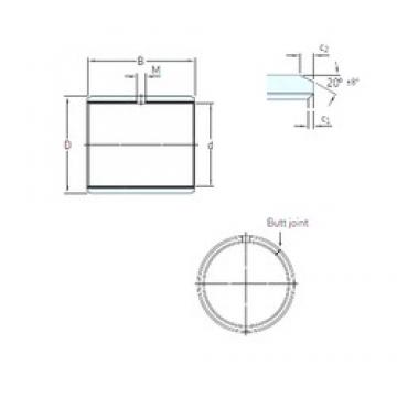 12,7 mm x 15,081 mm x 22,225 mm  SKF PCZ 0814 M plain bearings