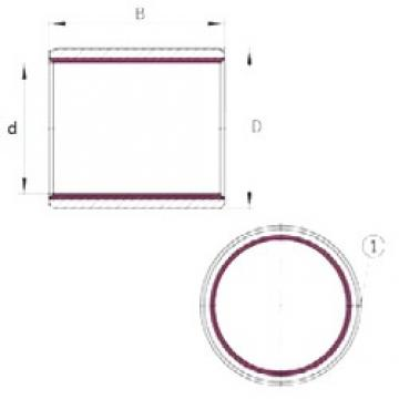 80 mm x 85 mm x 100 mm  INA EGB80100-E40-B plain bearings