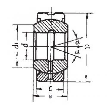 280 mm x 430 mm x 210 mm  FBJ GEG280ES-2RS plain bearings