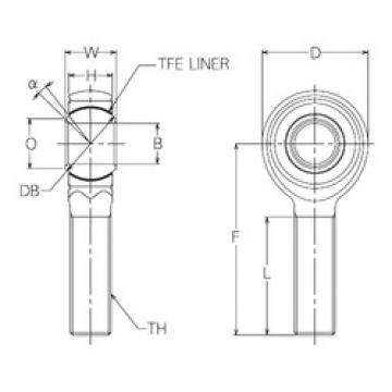 15 mm x 38 mm x 15 mm  NMB HRT15E plain bearings