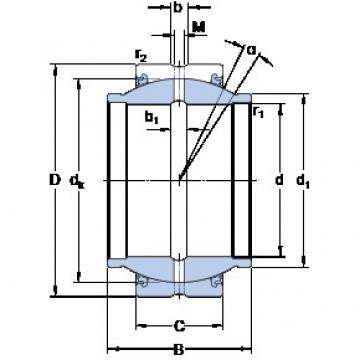 20 mm x 35 mm x 24 mm  SKF GEM 20 ESX-2LS plain bearings