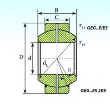 60 mm x 105 mm x 63 mm  ISB GEG 60 ES 2RS plain bearings
