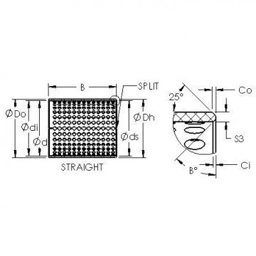 AST ASTT90 2820 plain bearings