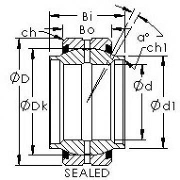 AST GEWZ63ES-2RS plain bearings