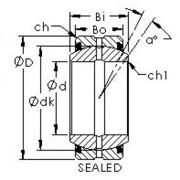 AST GEG140ES-2RS plain bearings