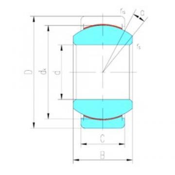 40 mm x 68 mm x 40 mm  LS GEG40ET-2RS plain bearings