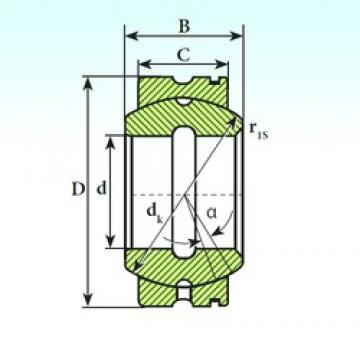 70 mm x 110 mm x 58 mm  ISB GE 70 XS K plain bearings