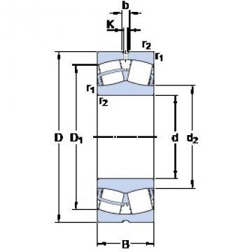 220 mm x 400 mm x 108 mm  SKF 22244 CC/W33 spherical roller bearings
