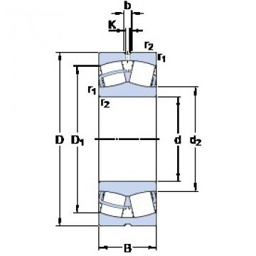 320 mm x 580 mm x 150 mm  SKF 22264 CC/W33 spherical roller bearings