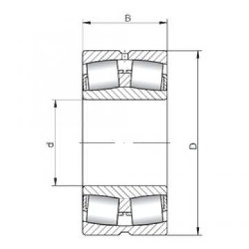 300 mm x 500 mm x 200 mm  ISO 24160W33 spherical roller bearings