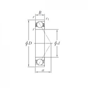210 mm x 299,5 mm x 38 mm  KOYO AC4230 angular contact ball bearings