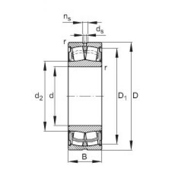 85 mm x 150 mm x 44 mm  FAG WS22217-E1-2RSR spherical roller bearings