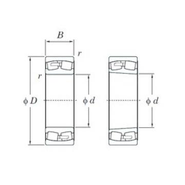 280 mm x 420 mm x 140 mm  KOYO 24056RK30 spherical roller bearings