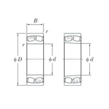 340 mm x 580 mm x 243 mm  KOYO 24168RK30 spherical roller bearings