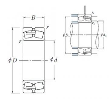 95 mm x 170 mm x 55,6 mm  NSK 23219CAE4 spherical roller bearings