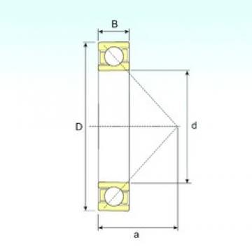 25 mm x 62 mm x 17 mm  ISB 7305 B angular contact ball bearings