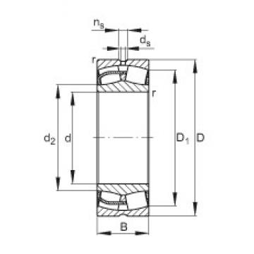 300 mm x 460 mm x 160 mm  FAG 24060-E1 spherical roller bearings