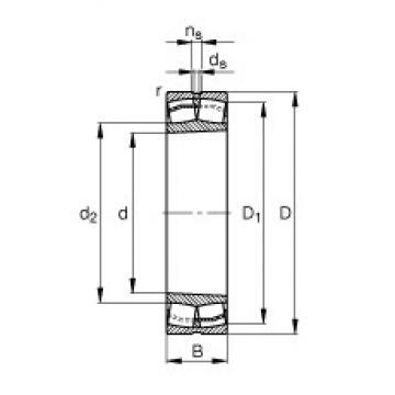 420 mm x 700 mm x 280 mm  FAG 24184-B-K30 spherical roller bearings